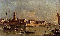 View of the Island of San Michele near Murano, Venice, guardi