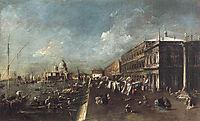 View of the Molo towards the Santa Maria della Salute, 1780, guardi