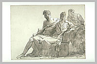 Study for the painting Phaedra and Hippolytus, guerin