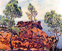 Agay, les Roches Rouges, 1901, guillaumin