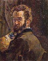 Autoportrait au chevalet, 1878, guillaumin