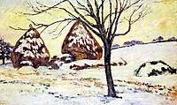 Effts de neige à Palaiseau, 1883, guillaumin