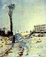 Hollow in the Snow, 1869, guillaumin