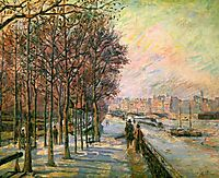 La Place Valhubert, 1875, guillaumin