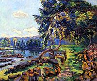 Les rapides a Genetin, 1900, guillaumin