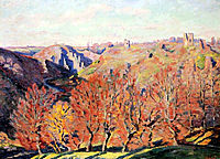 Les Ruines a Crozant, 1897, guillaumin
