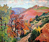 Mountain Landscape - Pontgibaud, village in Peschadoire, c.1895, guillaumin