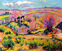 Landscape of Creuse at spring, guillaumin