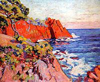 Rochers sur la Côte à Agay, 1907, guillaumin