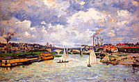 The Seine river at Charenton, 1878, guillaumin