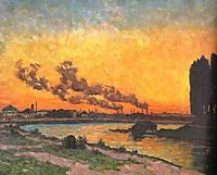 Sunset at Ivry (Soleil couchant à Ivry), 1873, guillaumin