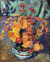 Vase de chrysanthemes, 1885, guillaumin