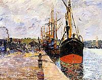 Vue de port, 1880, guillaumin
