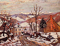 Winter in Saint-Sauves-d-Auvergne, 1900, guillaumin