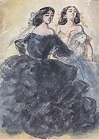 Demi-mondaines, 1860, guys