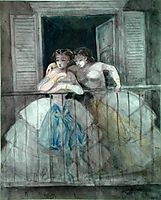 Girls on the Balcony, 1860, guys