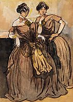Two Women, 1891, guys