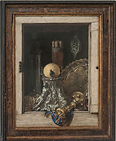 Silverware in an Open Cabinet, gysbrechts