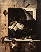 Still-Life with Self-Portrait, 1663, gysbrechts