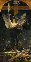 Archangel, study for the Foundation of Faith, 1895, gyzis
