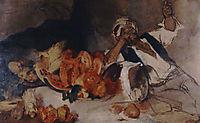 Oriental man with fruit, 1873, gyzis