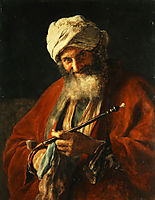 Oriental Man with a Pipe, 1874, gyzis