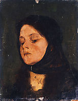 Portrait of a girl, c.1880, gyzis