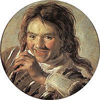 Boy holding a Flute (Hearing), 1628, hals