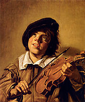 Boy Playing A Violin, hals