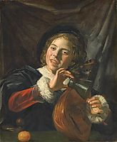 Boy with a Lute, c.1625, hals