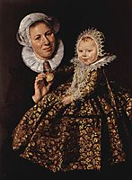 Catharina Hooft with her Nurse, c.1620, hals
