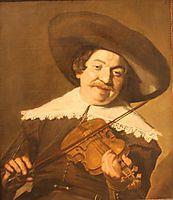 Daniel van Aken Playing the Violin , c.1640, hals