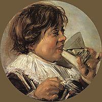 Drinking Boy (Taste), 1628, hals