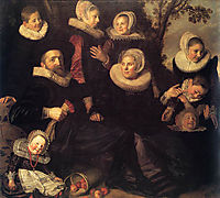 Family Group in a Landscape, c.1620, hals