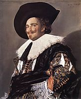 The Laughing Cavalier , 1624, hals