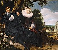 Marriage Portrait of Isaac Massa and Beatrix van der Laen, hals