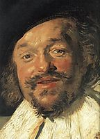 The Merry Drinker (detail), 1630, hals