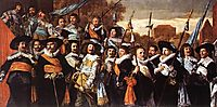 Officers And Sergeants Of The St. Hadrian Civic Guard, 1639, hals