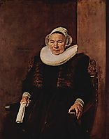 Portrait of an unknown woman, 1643, hals