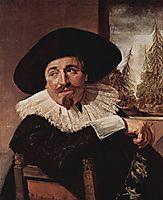 Portrait of Isaak Abrahamsz Massa, 1626, hals