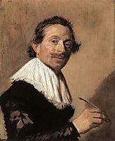 Portrait of Jean de la Chambre at the age of 33, 1638, hals