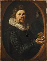 Portrait of a Man, 1616, hals