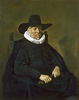 Portrait of a Man, 1643, hals