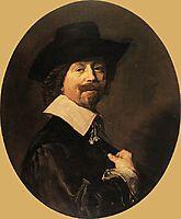 Portrait of a Man, 1644, hals