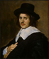 Portrait of a man , 1650, hals