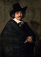 Portrait of a Man, 1654, hals