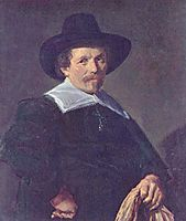 Portrait of a Man holding Gloves, c.1645, hals