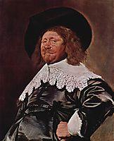 Portrait of a Man, Nicolaes Pietersz Duyst van Voorhou, hals