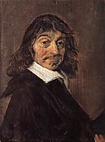 Portrait of Rene Descartes , c.1649, hals