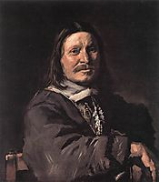 Portrait of a Seated Man, 1666, hals